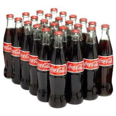 24 Pack Mexican Coca-Cola Cane Sugar Import Glass Bottles 12oz Coke Hecho Mexico