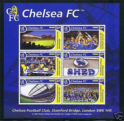 Grenada 2002 Chelsea Football Club MS SG4811 MNH