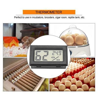 Digital LCD Temperature Humidity Meter Thermometer Hygrometer and Built-in Probe