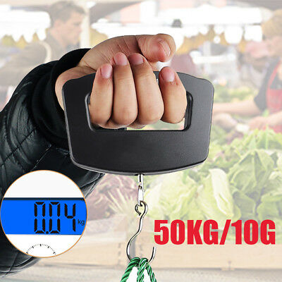 50kg/10g Portable LCD Electronic Hanging Luggage Digital Scale Weight Travel