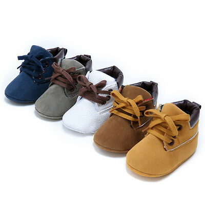 For Newborn Baby Boys Girls Soft Sole Crib Shoes Boots Anti-slip Sneakers 0-18M