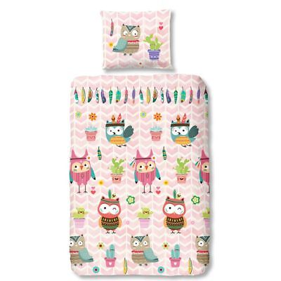 Good Morning Housse de couette 5608-A OWLZ 140 x 200/220cm Multicolore