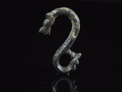Medieval Viking Bronze Double Headed Dragon Amulet / Pendant - T152
