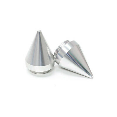 Spiked Replacement Bar Ends for SHG Grips - Silver Motorcycle Sportbike Cruisers