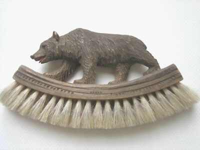 black forest bear edwardian carves wood unusual clothes brush