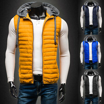 BOLF Vests Gilet Waistcoat Puffer Quilted Jacket Warm Hooded Mens 4D4 Bodywarmer