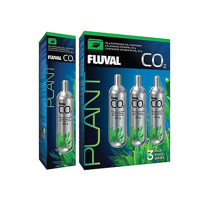 NEW Fluval 95g Disposable Replacement CO2 Cartridges - Pack of 1 or 3