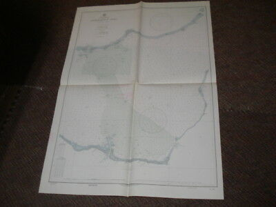 nautical chart AilingLapalap atoll Marshall Island 1944 US Navy unique neat