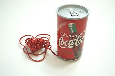 Vintage 1999 Coca-Cola Can Shaped Touch Tone Telephone With Red Phone Cord