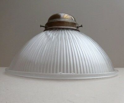 Antique Vintage Holophane Prismatic Industrial Ceiling Glass Lamp Shade Gallery