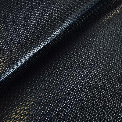 Heavy Duty PVC Leatherette Vinyl Upholstery Fabric Material - NAVY PLAT