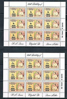 St Lucia 1980 Queen Mothers Birthday SHEETS SG534/5 MNH