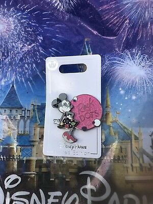 Disney World Parks Minnie Mouse Rock The Dots Pin LE In Hand