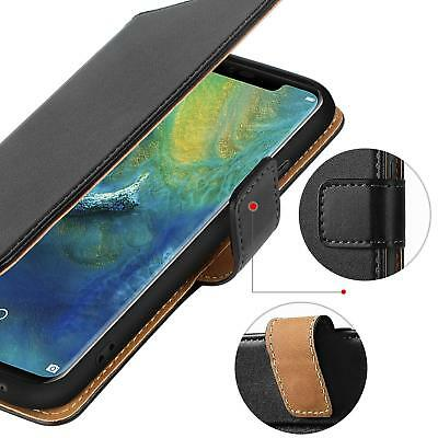 Huawei Mate 20 Pro Lite P20 Pro Genuine Real Leather Wallet stand case cover