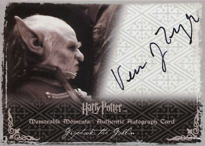 Harry Potter Memorable Moments 2 Autograph Verne Troyer