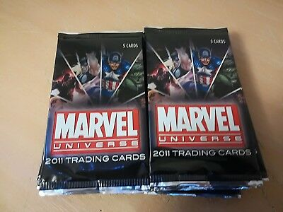 Marvel Universe 2011 Lot Of 20 Factory Sealed Trading Card Hobby Packs