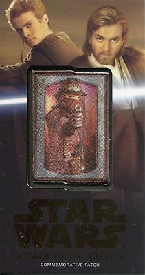 Star Wars AOTC 3D Widevision Bronze Patch Card MP-9 Zam Wesell #50
