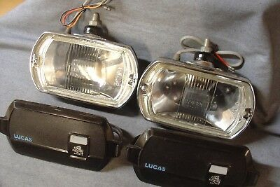 Vauxhall Viva Magnum Chevette Lucas Spot Lamps And Covers  Lr8 Refurbished