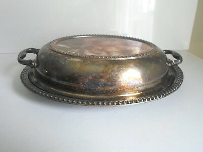 Antique Silver Soldered Covered Dish Gorham 1928 Hotel Lincoln