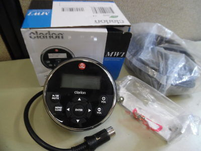 Clarion MW1 Marine Wired Remote Unit w/ 25' Extension Cable - TESTED!