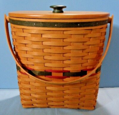 Longaberger . Winter Wishes Basket . 1998 . With Lid & Protector