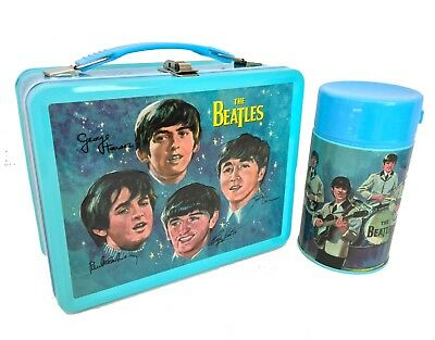 The Beatles Signatures Retro Style Metal Lunch Box