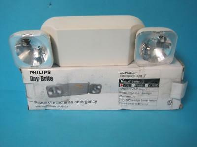 New Philips Vu6 Vu6 Emergency Light Wall Mount Dual Heads 6V 12W Snap Together