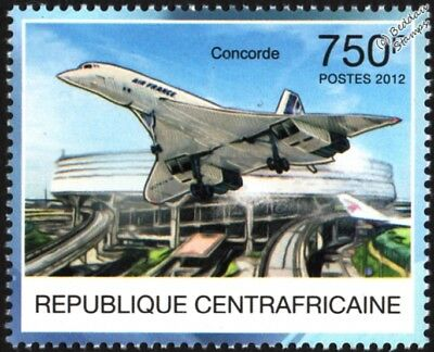 Air France CONCORDE Supersonic Airliner Aircraft Stamp #1 (2012 CAF)