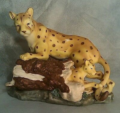 Cheetah with Cub Figurine Unknown Maker Unknown Age