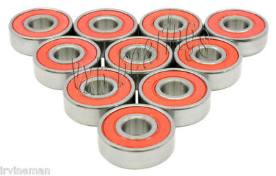 "10 Sealed Bearings inch size Ball Bearing 5/16"" x 7/8"""