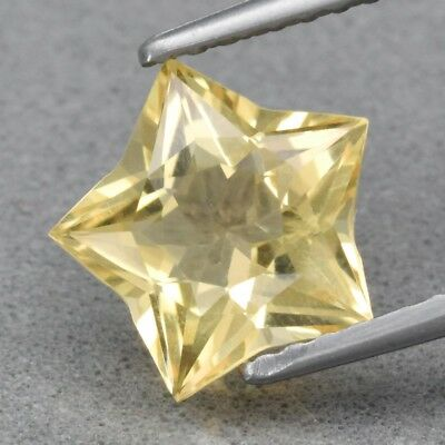 Top! VVS 1.50ct 8.4x8.2mm Star Natural Yellow Citrine, Brazil