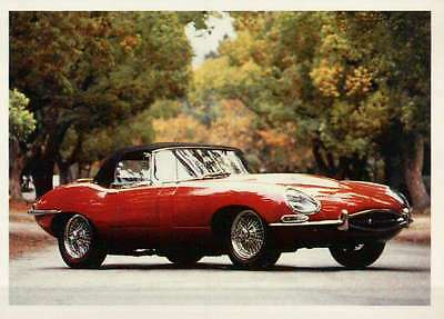 Juguar XKE 3.8 1964, Dream Cars Trading Card, Automobile --- Not Postcard