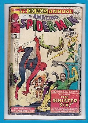 AMAZING SPIDER-MAN ANNUAL #1_1964_GOOD_CLASSIC 1st APPEARANCE SINISTER SIX!
