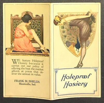 RARE Circa 1924 Holeproof Hosiery Advertising Leaflet –Coles Phillips Artwork