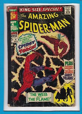 "Amazing Spider-Man King-Size Special #4_1967_Good+_Human Torch_""web & The Flame"""