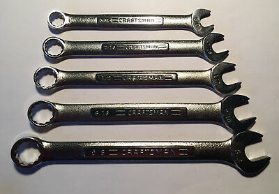 5 Craftsman Combination Wrenches -VA-44693, 94, 95,96,97