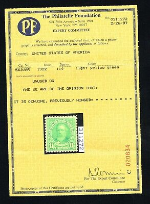 CKStamps: US Stamps Collection Scott#563var 11c Mint H OG PF Cert