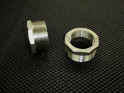 "STAINLESS STEEL BUSHING REDUCER 2"" x 1 1/2"" NPT PIPE BS-200-150"