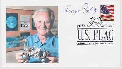 Signed Ferenc Pavlics Fdc Autographed First Day Developed Apollo Lunar Vehicle