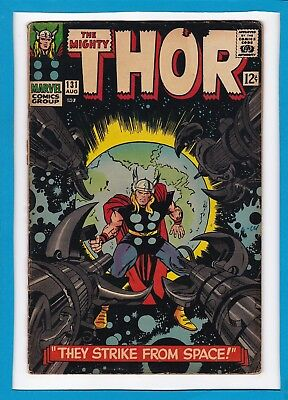 """Mighty Thor #131_August 1966_Vg Minus_""""they Strike From Space""""_Silver Age!"""
