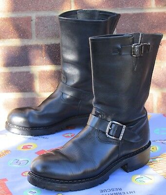 Grinders 'OGRI' Biker / Engineer Boots. Made in England. Size UK 9 / EUR 43.