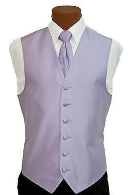 Small Mens After Six Aries Lilac Fullback Prom Wedding Tuxedo Vest & Tie