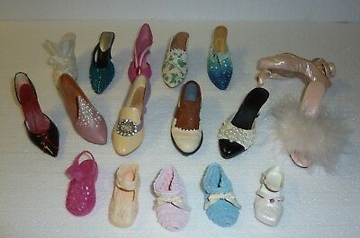 Just The Right Shoe Miniature Shoes by Raine  Lot of 17