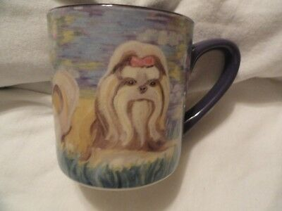 Shih Tzu Mug Cup a la Claude Monet with gift box LAST ONE!