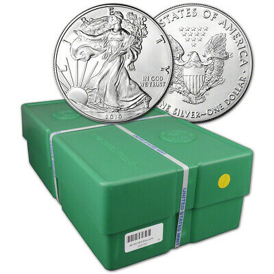 2019 American Silver Eagle 1 oz $1 - BU - Sealed 500 Coin Monster Box