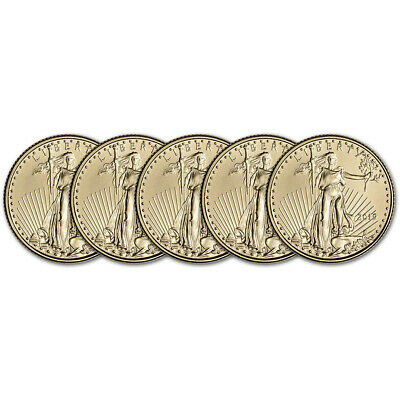 2019 American Gold Eagle 1/10 oz $5 - BU - Five 5 Coins