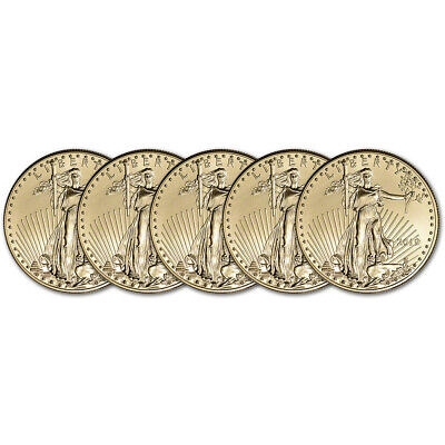 2019 American Gold Eagle 1 oz $50 - BU - Five 5 Coins