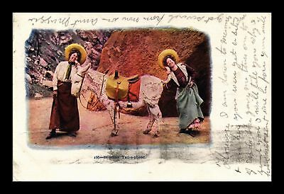 Dr Jim Stamps Us Wireless Tail O Phone Comic Donkey Topical Embossed Postcard