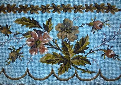 EXQUISITE 19th CENTURY VICTORIAN BEADWORK BEADED BERLIN WOOLWORK 3.