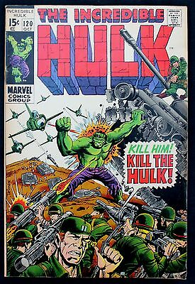 Incredible Hulk 120 a fn+ 1969 Silver Age 'cent'  Marvel Comic   ft The Inhumans